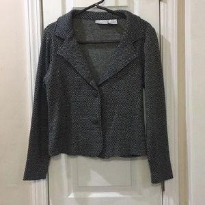 Black and glittery blazer by Worthington